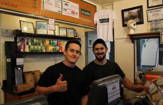Strada baristas Carlos and Christian. Photo: Siciliana Trevino